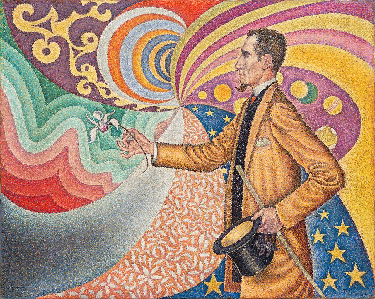 Paul Signac, Portrait de Félix Fénéon, 1890, Museum of Modern Art, New York City.