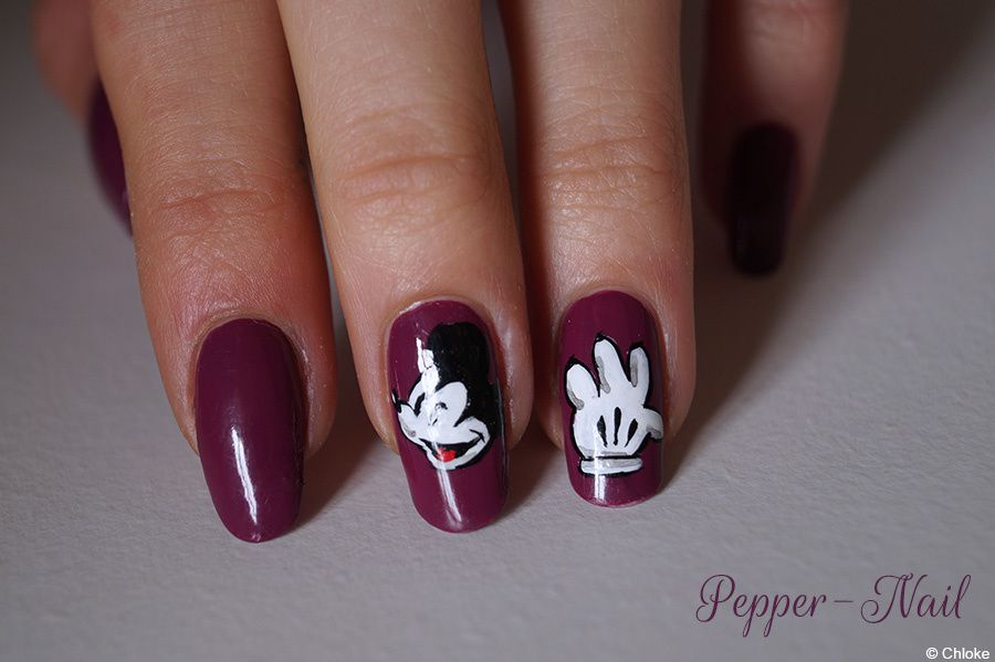 Quand Mickey se balade sur mes ongles