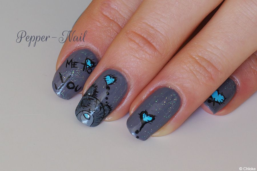 Nail art - Ourson &quot&#x3B;Me to You&quot&#x3B;