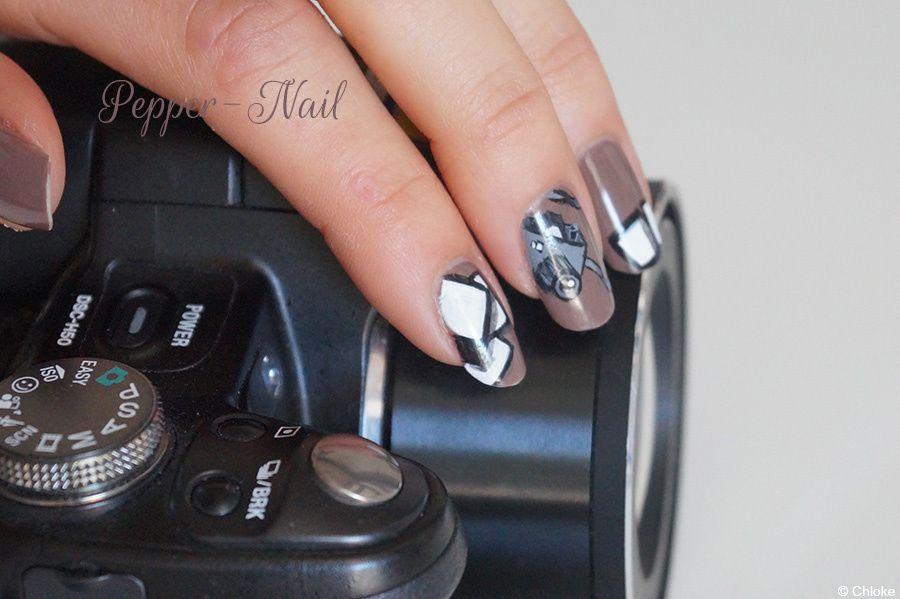 Nail art - Appareil photo en folie