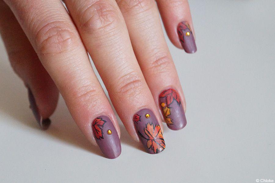 Nail art - Chutes de feuilles