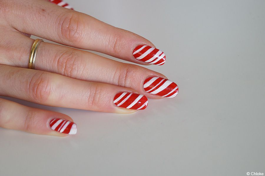 Christmas nails - Candy Cane