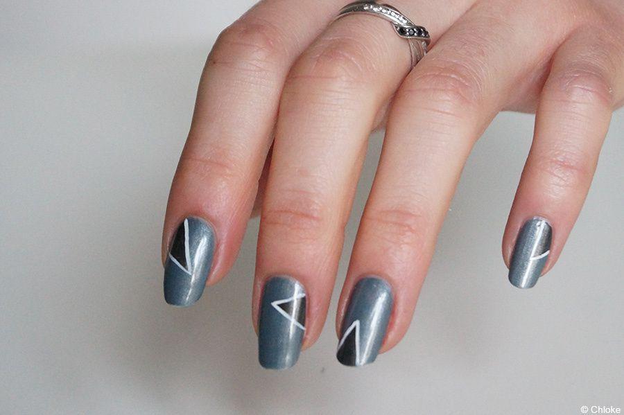 Géométrie moderne - Nail art