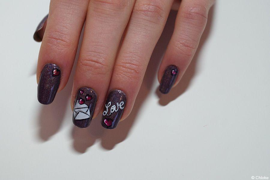 Valentine days - Nail art pour Cuponation