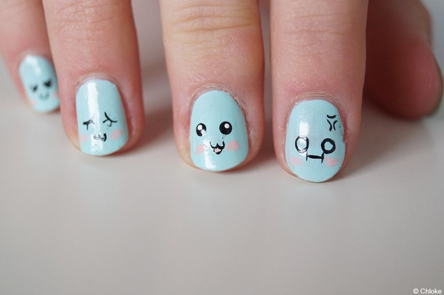 Nail Art Cute Faces ~ Cute nail tutorials you won t miss pretty designs