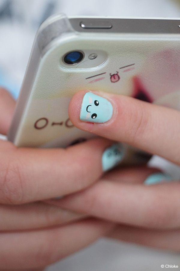 Family nails - Cute face sur ma soeur