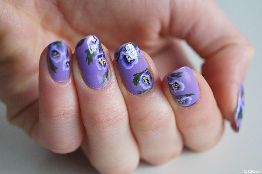 Nail art - One stroke fleurs ouvertes