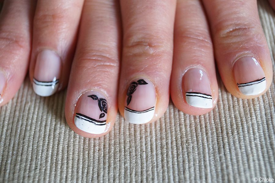 Family Nails - French manucure sur ma Marraine - Pepper Nail