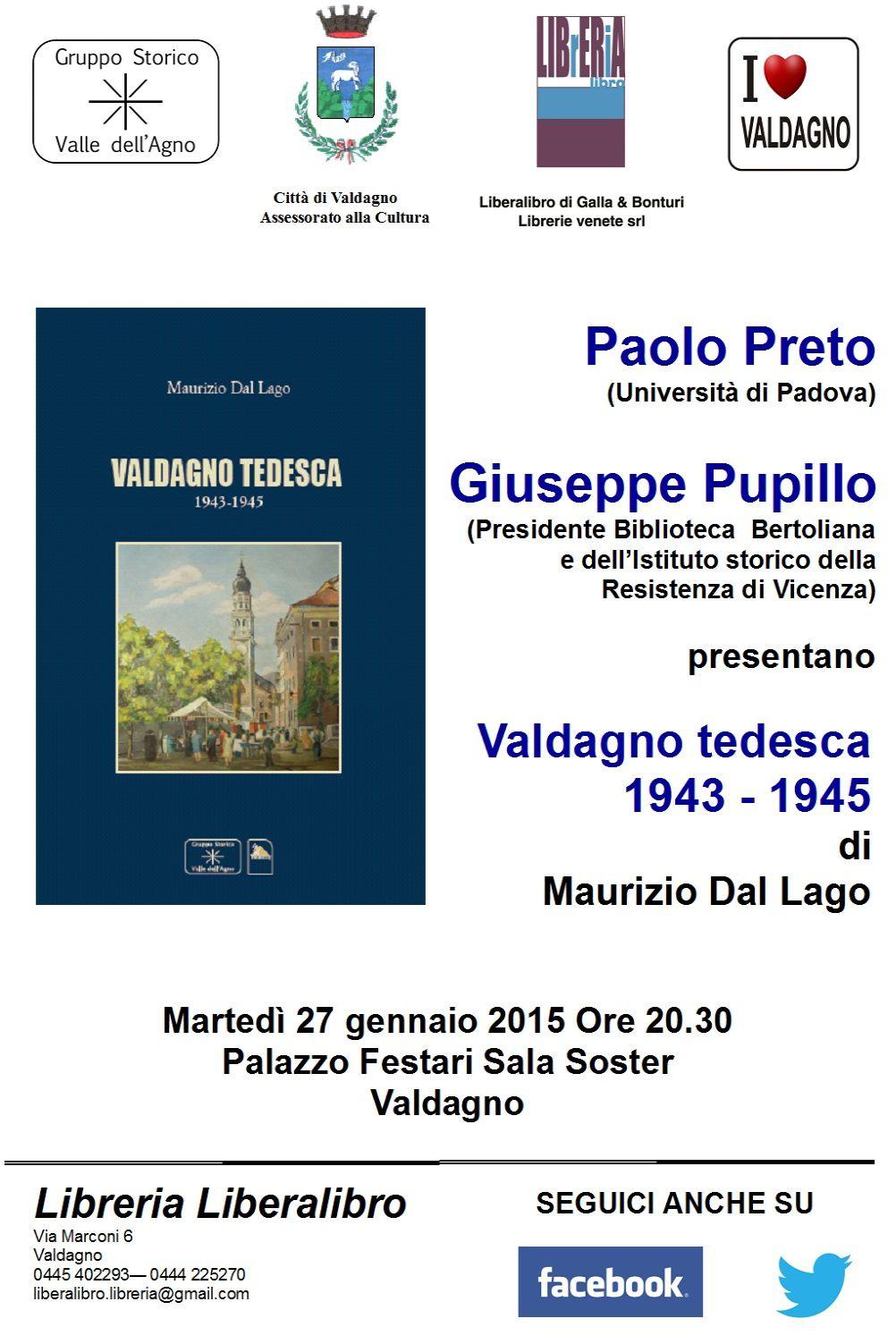 Incontri d'autore: Maurizio Dal Lago presenta &quot&#x3B;Valdagno tedesca 1943 1945&quot&#x3B;
