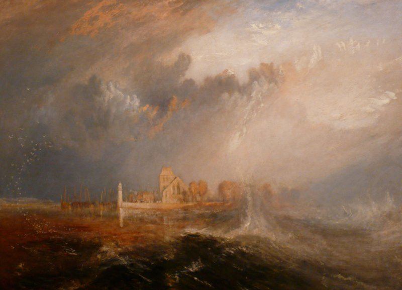 Joseph Mallord William Turner - Quillebeuf At The Mouth Of Seine - Lisbonne - Musée Calouste Gulbenkian - 02 01 2009
