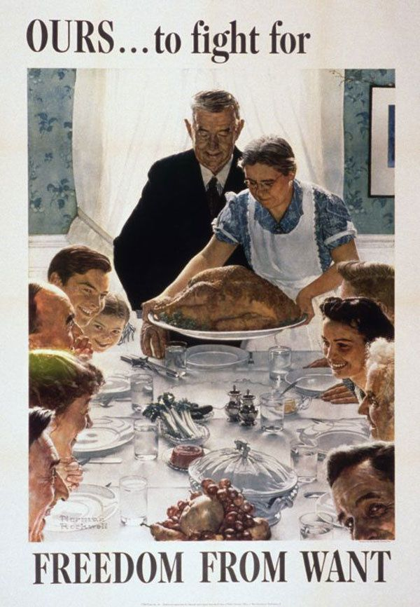 """""""Freedom from Want"""", 1943 commonly known as """"The Thanksgiving Picture"""""""