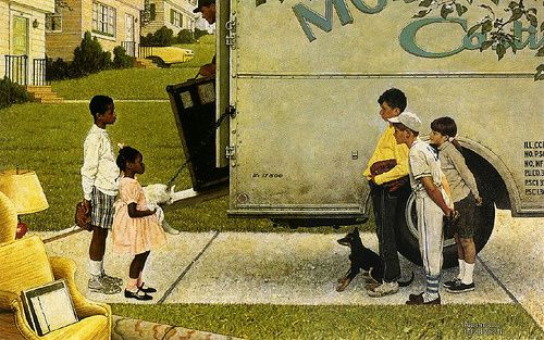 Histoire des Arts: &quot&#x3B;New Kids in the Neighborhood&quot&#x3B; or &quot&#x3B;Moving In&quot&#x3B;, Norman Rockwell