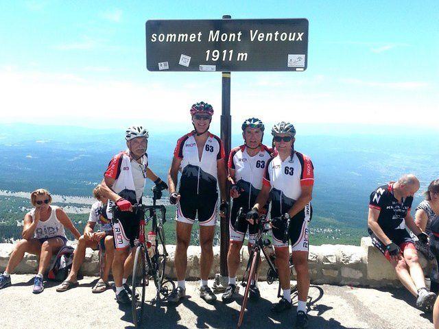 Au sommet du Ventoux , le 26 juin 2015.