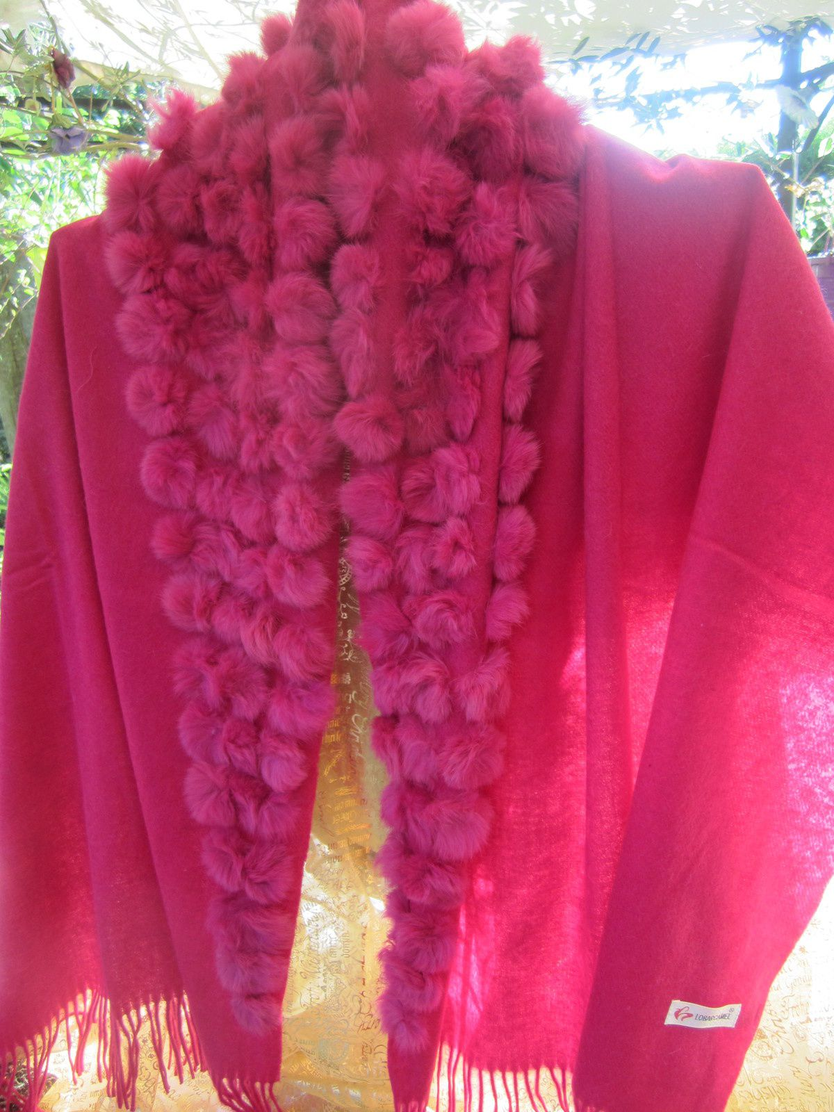 PONCHO Rose Made in PARIS