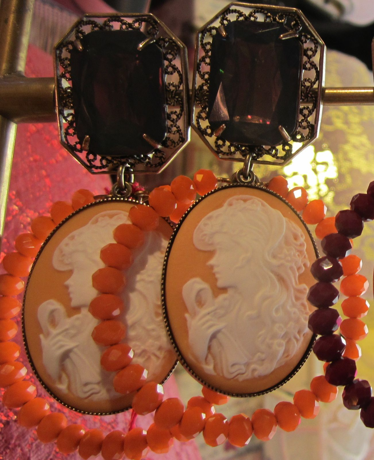 BOUCLES D OREILLES CAMEE Orange de JULIE SION