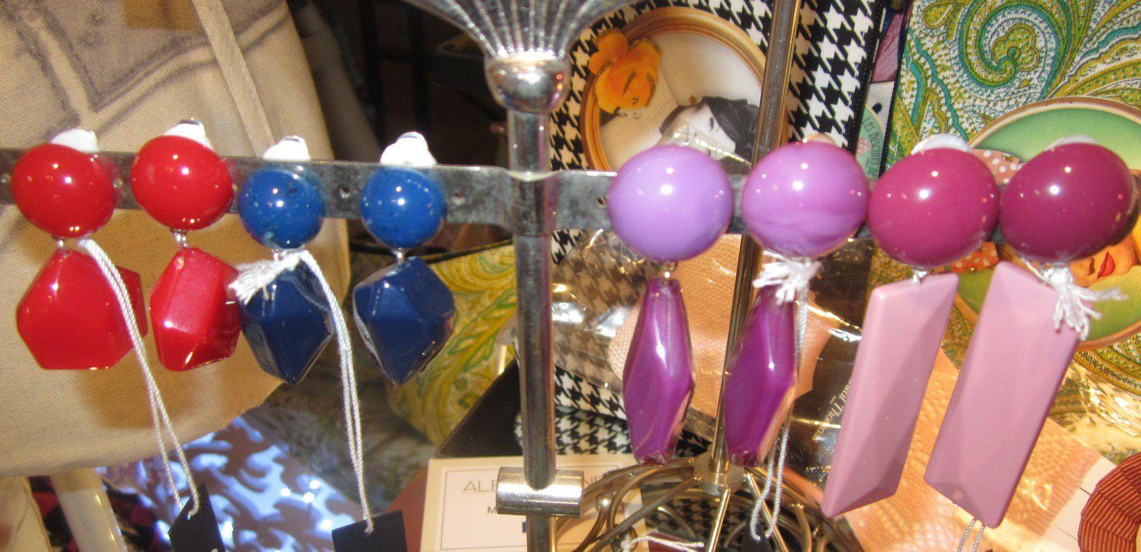Boucles d'oreilles Collections SEYCHELLES et  KOOS d ' ALEXANDRINE PARIS