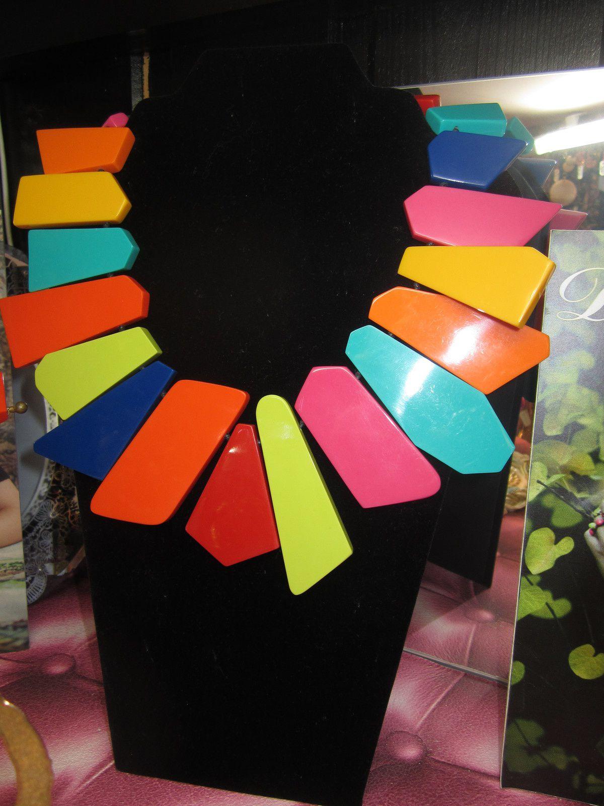 Collier plaques multicolores de MARION GODART