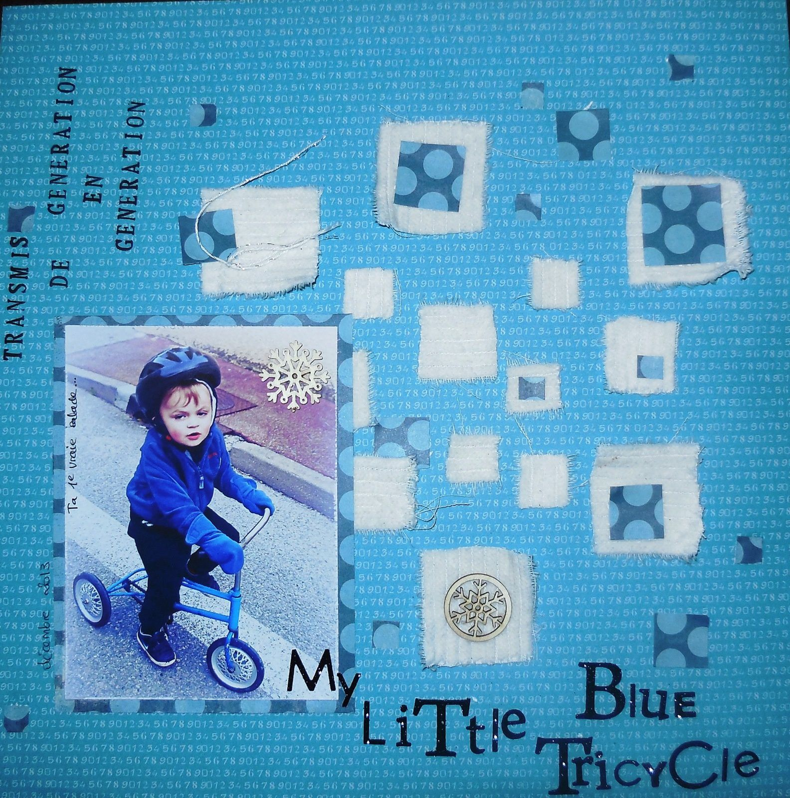 my little blue tricycle