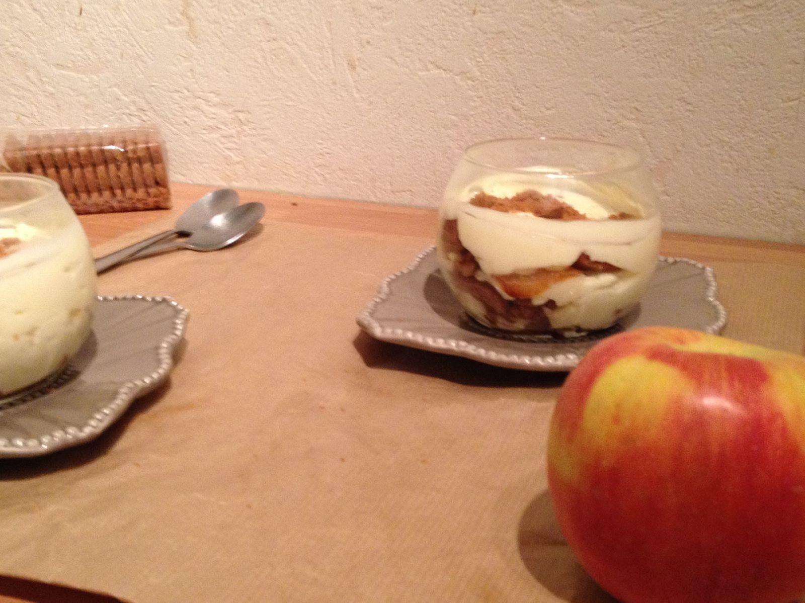 Tiramisu pommes-miel et spéculos