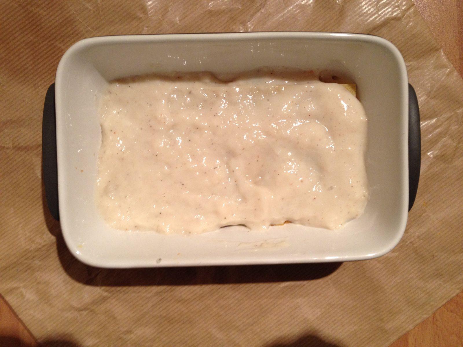 Lasagnes de courge et champignons blancs