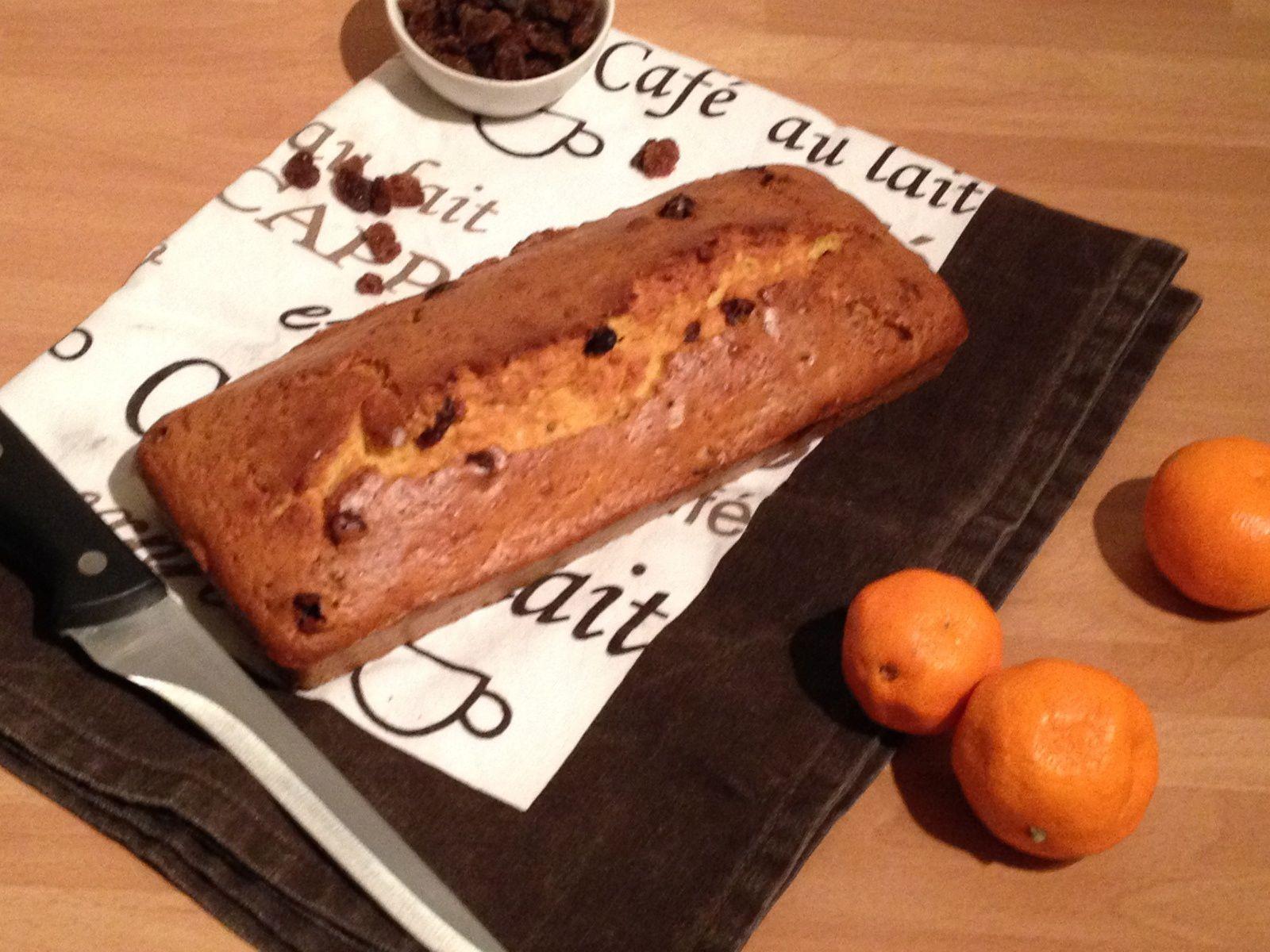 Cake aux clémentines et raisins secs