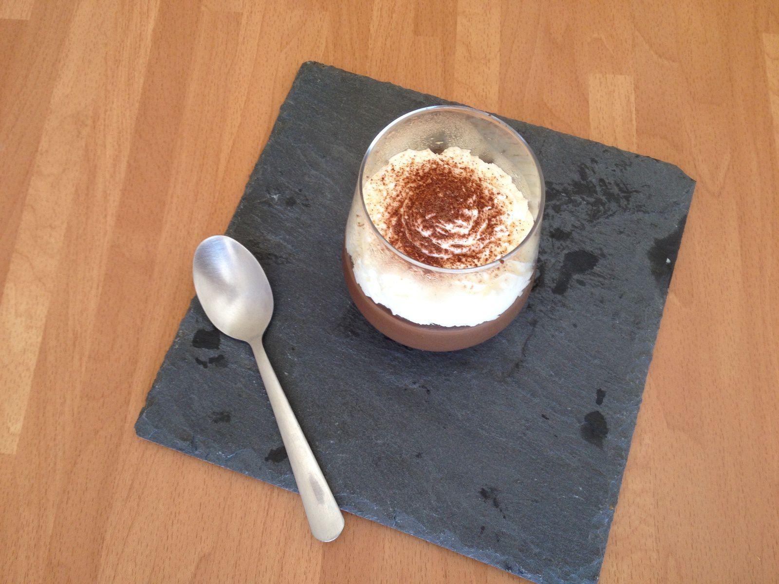 Crème dessert façon chocolat liégeois