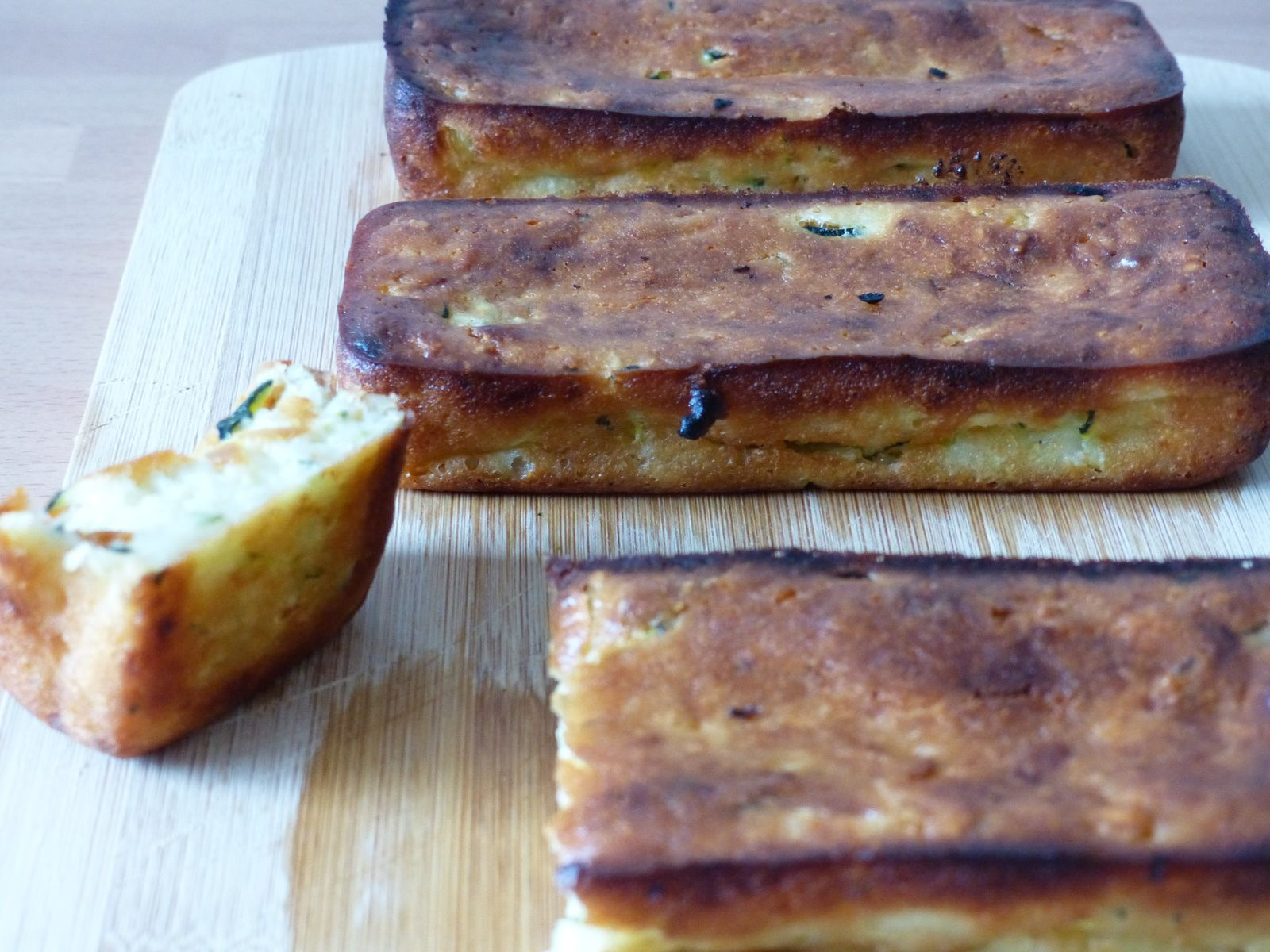 Financiers courgette et parmesan