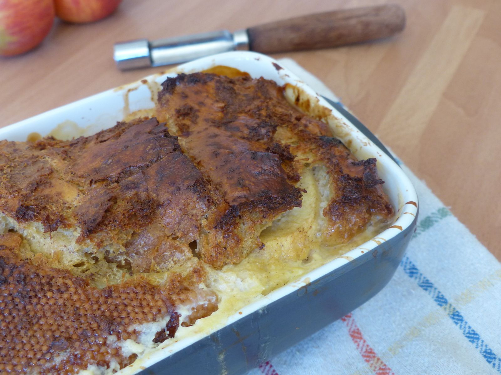 Pudding pommes cannelle