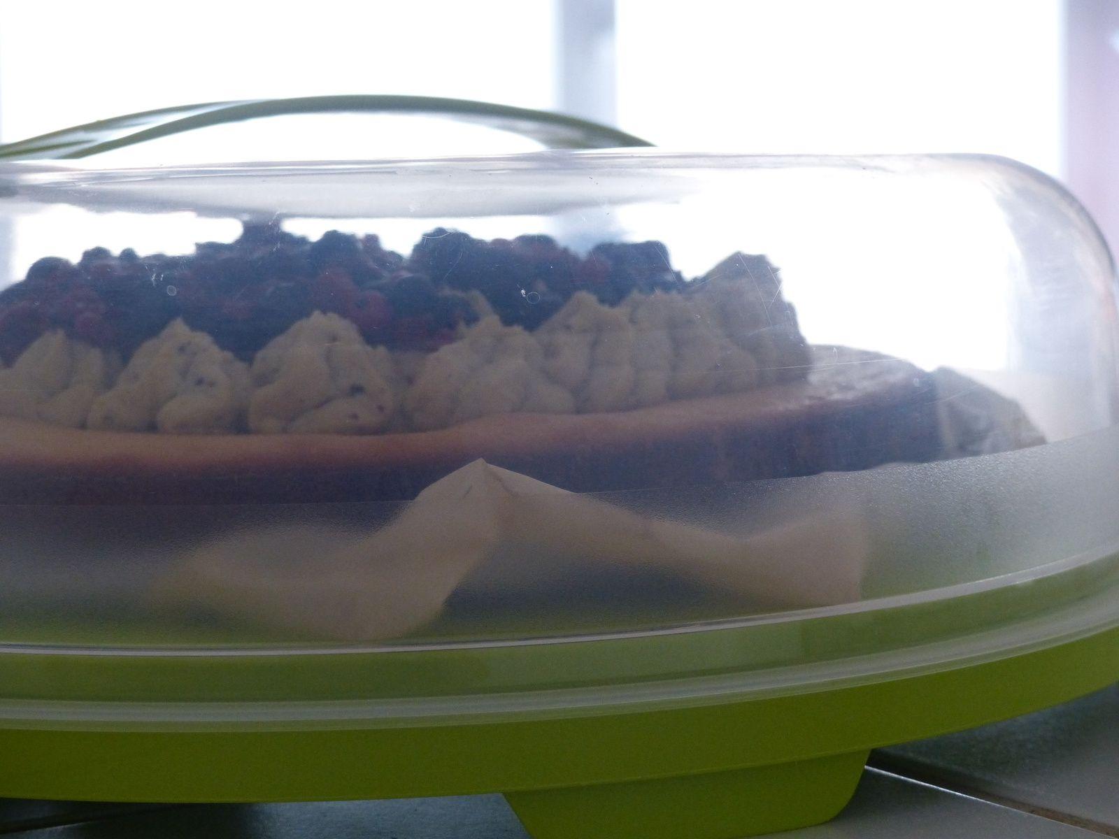 Tarte financière pistache fruits rouges