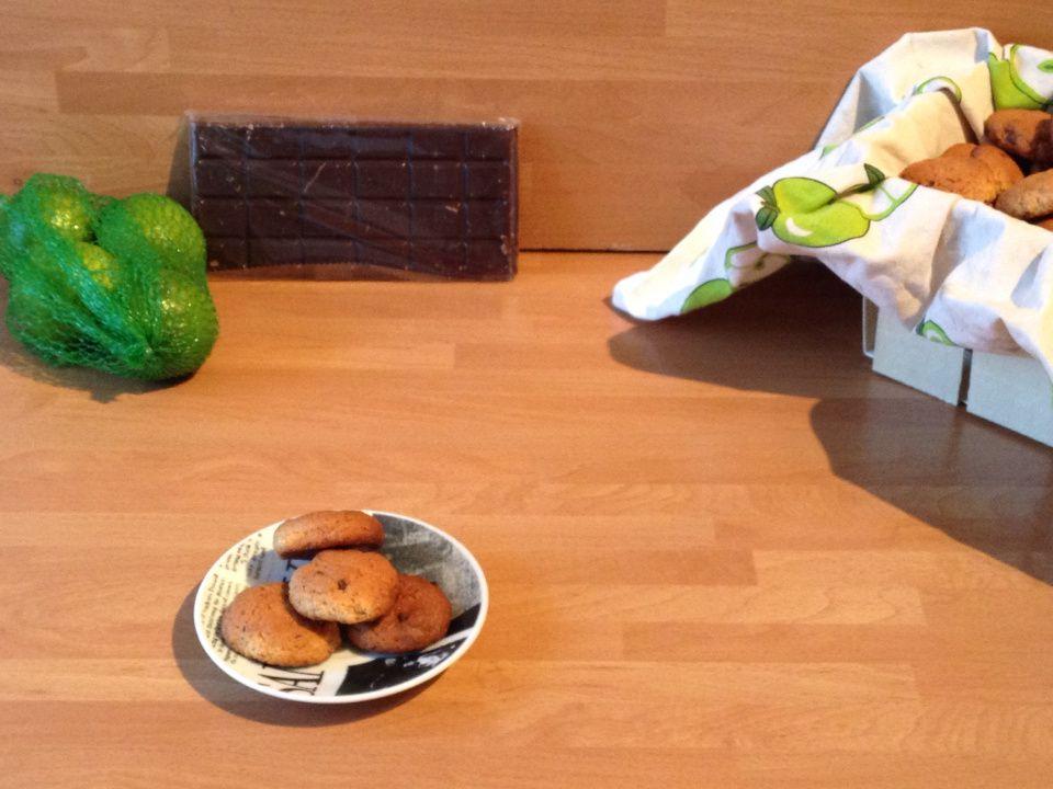Cookies chocolat noir et zestes de citron vert