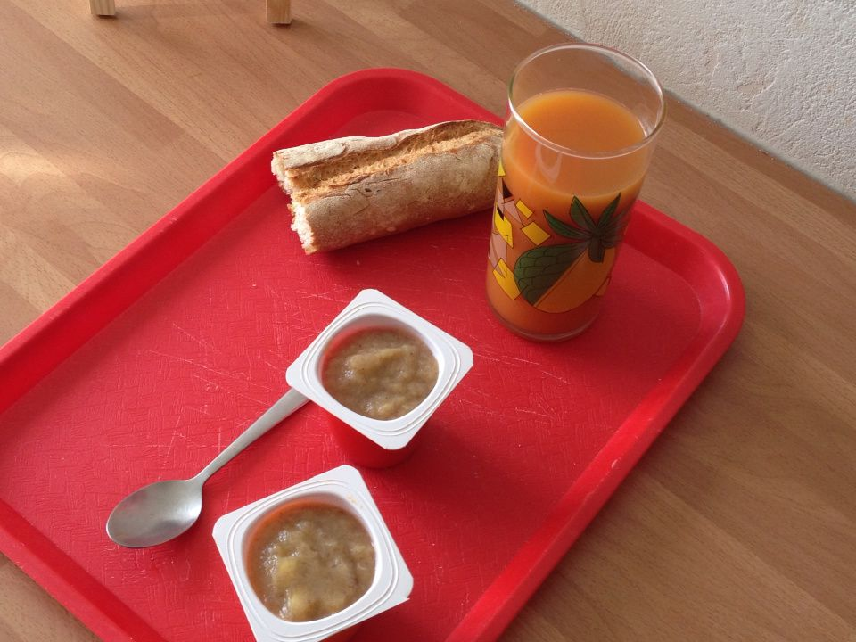 Compote pommes bananes vanille