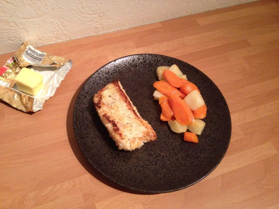 Filet de brosme et légumes glacés