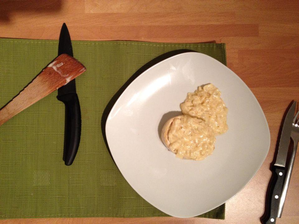 Tournedos de dinde, sauce crémeuse aux oignons