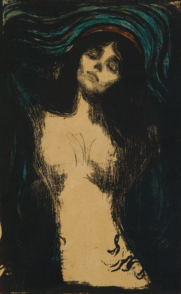 Madonna   1895 – 1902 litografia Collezione privata © The Munch Museum / The Munch-Ellingsen Group by SIAE 2013