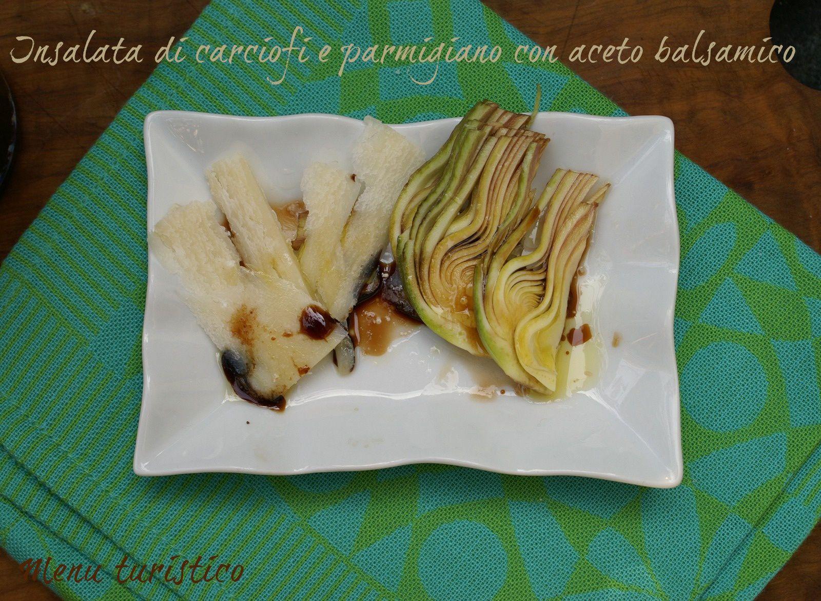 Un antipasto fresco: Insalata di carciofi con aceto balsamico invecchiato e parmigiano reggiano (e un'alternativa al pecorino)...e un MusicAperitivo interessante!