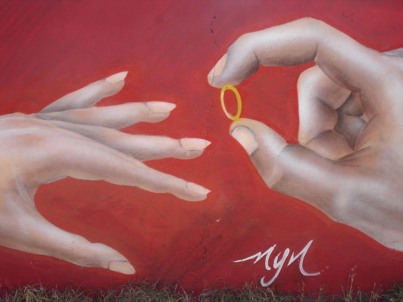Ceci est une peinure murale de Valparaiso.