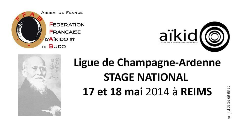 Stage national à Reims 16-17-18 mai