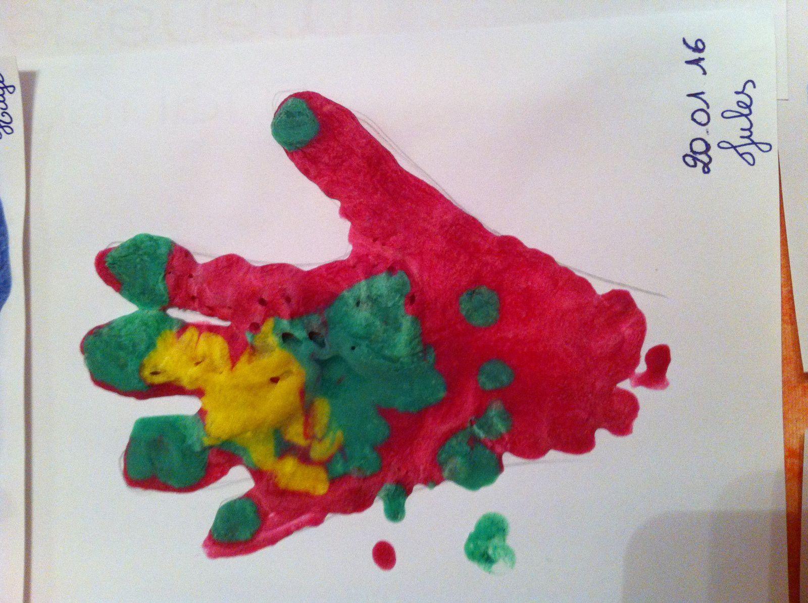 Activité du mercredi peinture gonflante