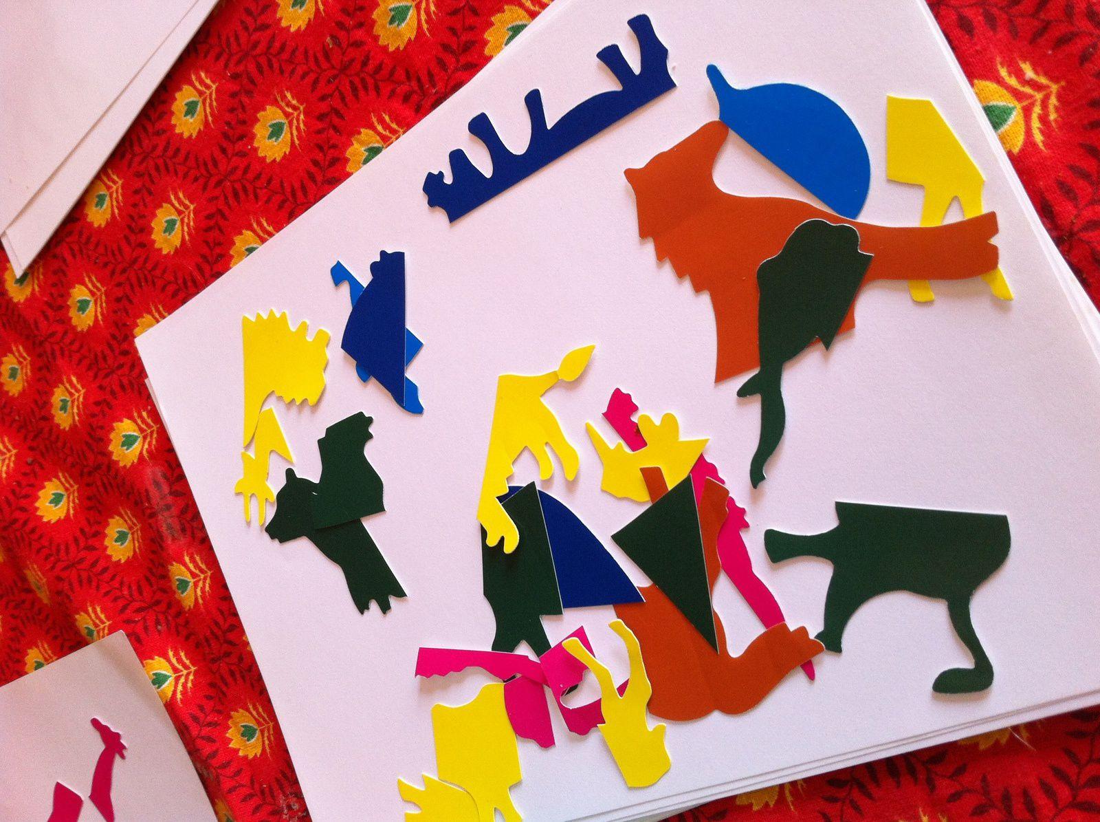 Exercices autour du zoo puzzle de gommettes