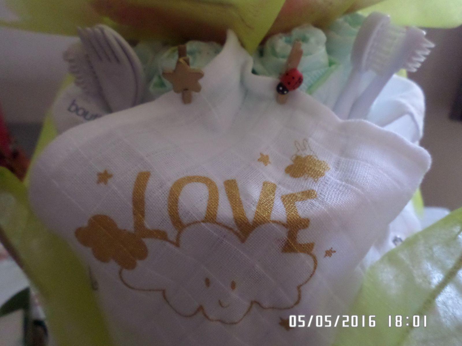Gâteau de couches pour la naissance de Pauline