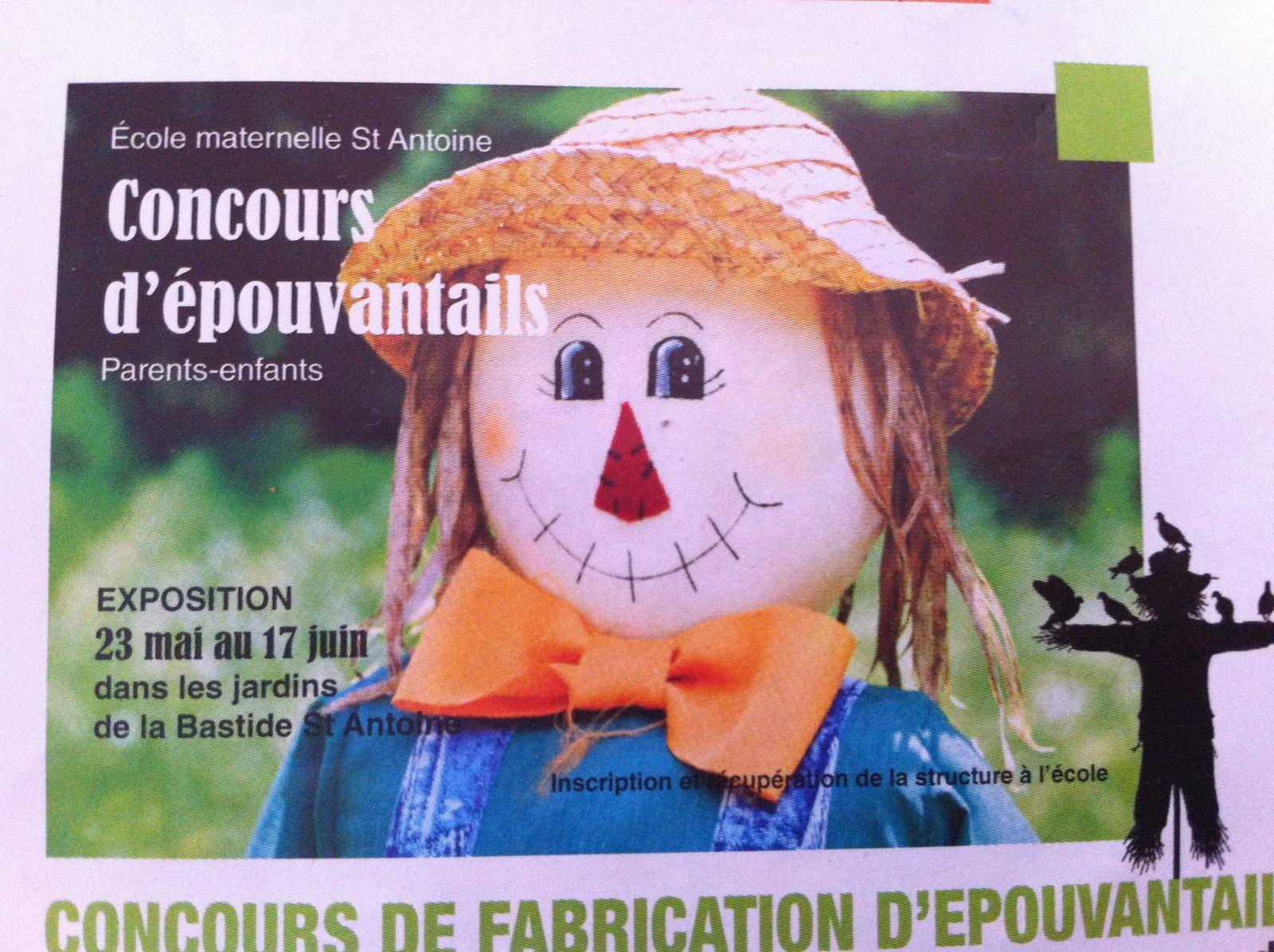Exposition et concours d'épouvantails école maternelle St Antoine Grasse