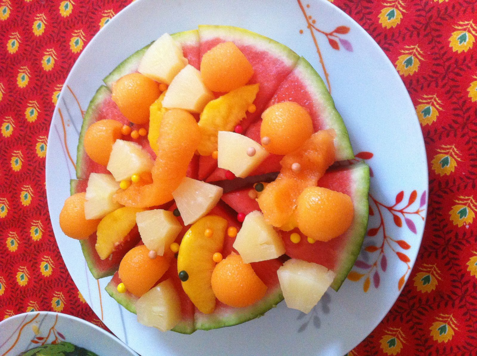 La pizza de fruits frais