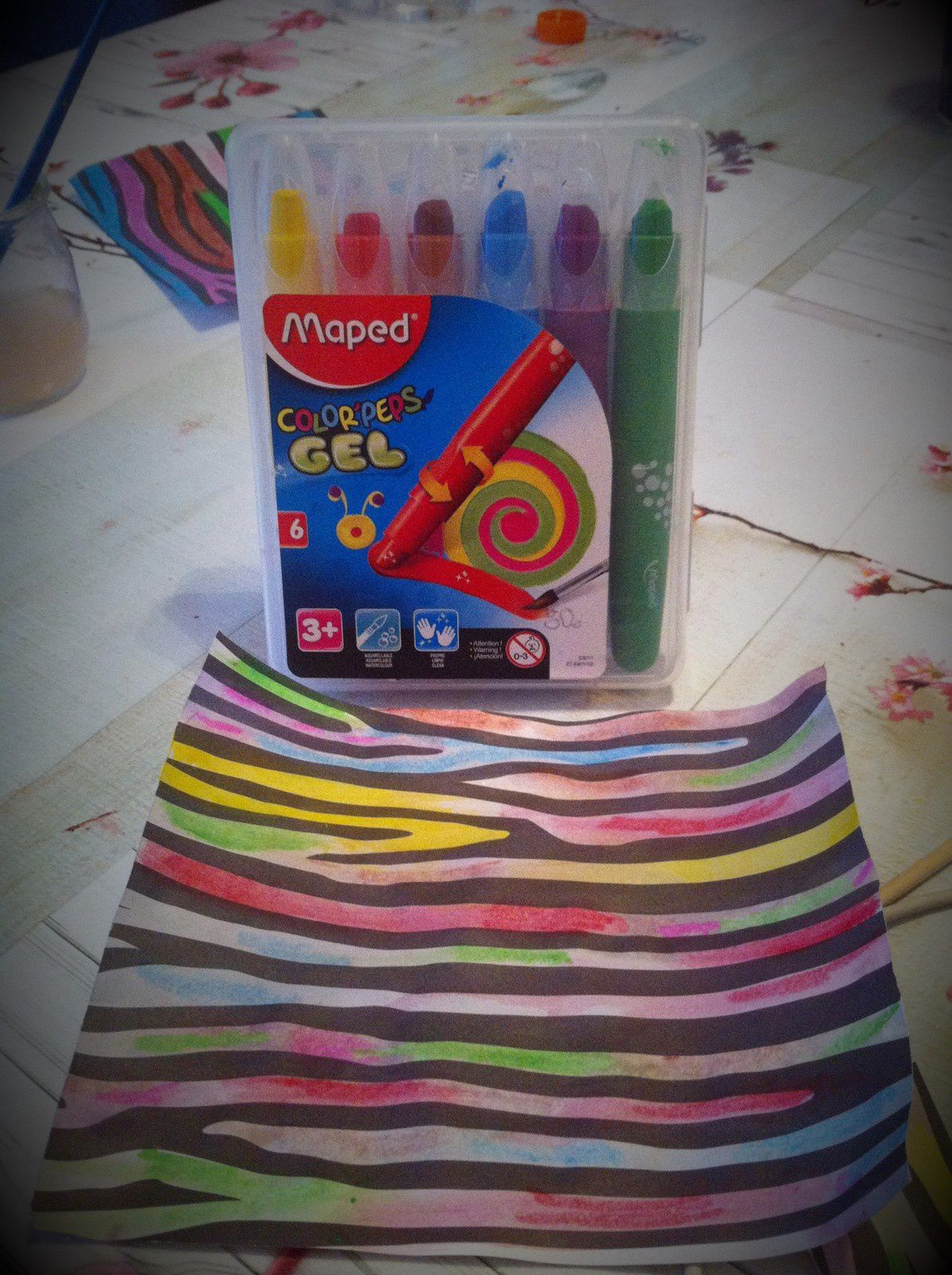 J'ai testé : crayons gel aquarellables color' peps Maped