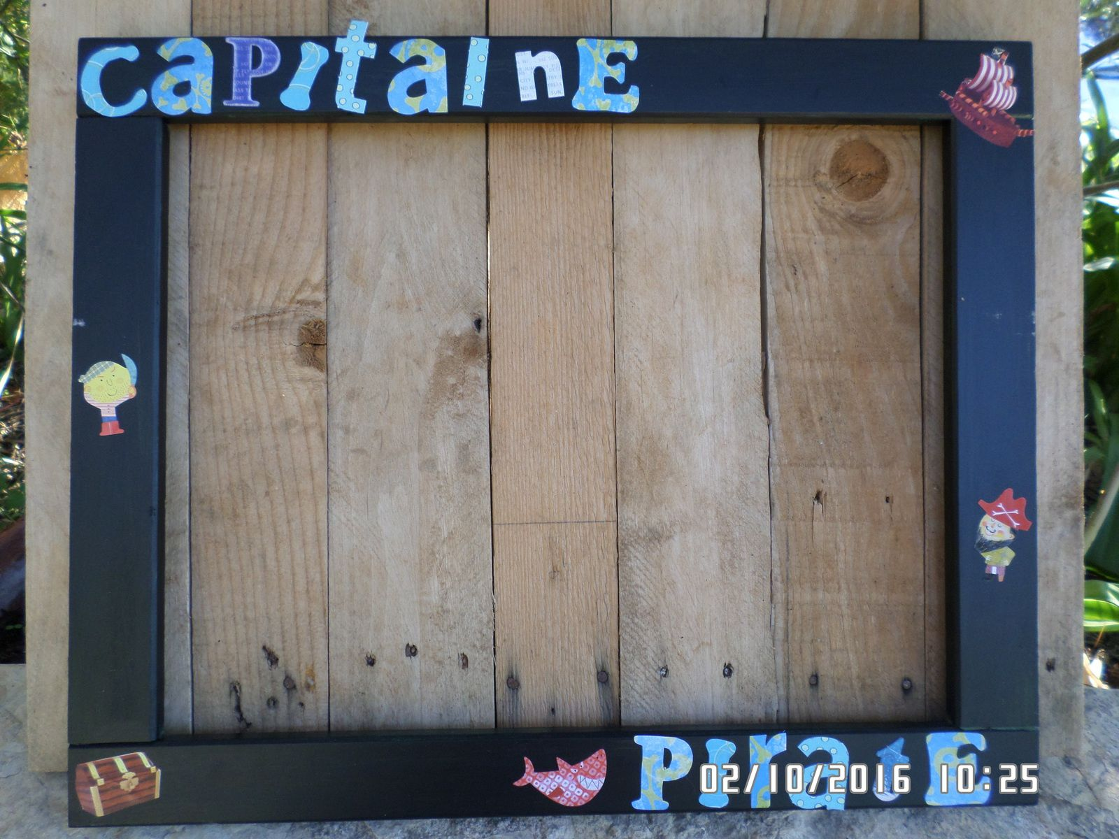 Anniversaire 7 ans pirate : le cadre photobooth