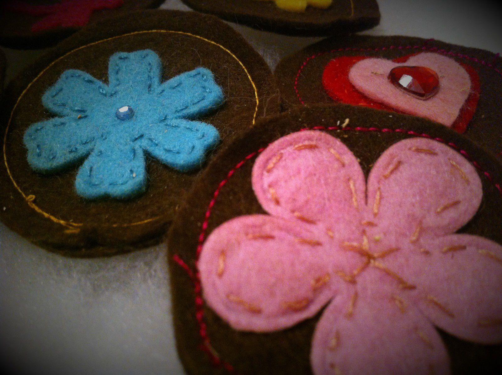 Dinette feutrine : les palets de chocolat gourmands