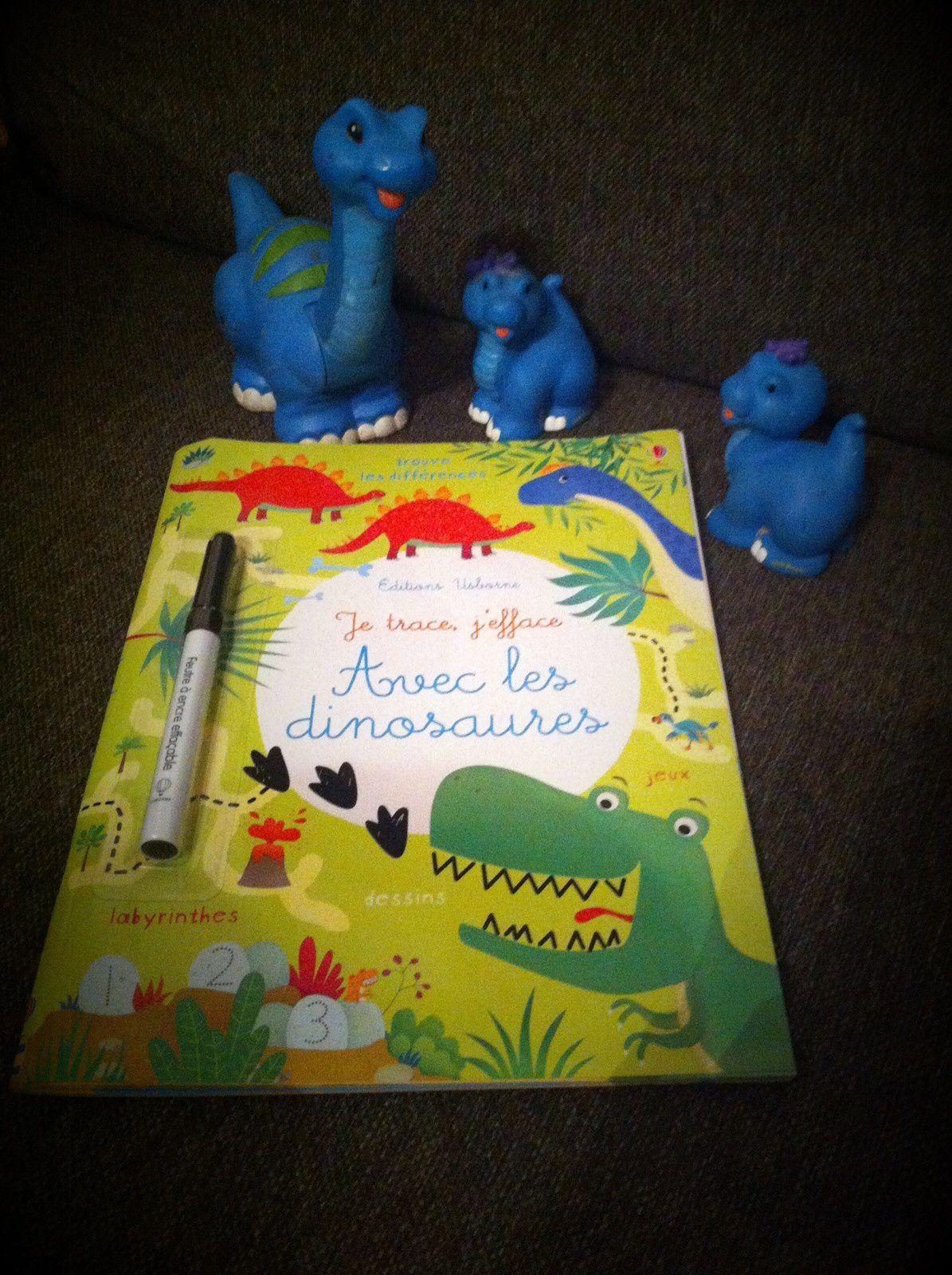 Chut les enfants lisent #89 - Je trace, j'efface avec les dinosaures