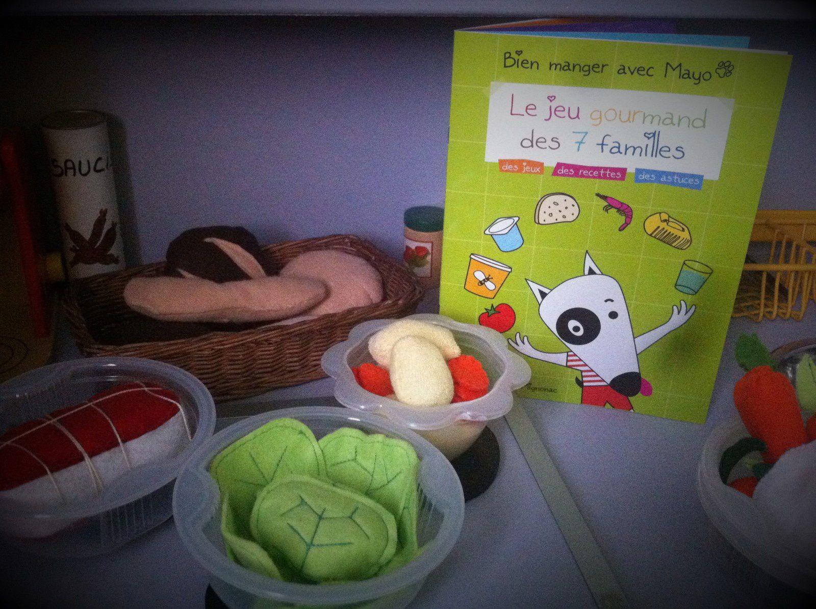 Livre : Le jeu gourmand des  7 familles