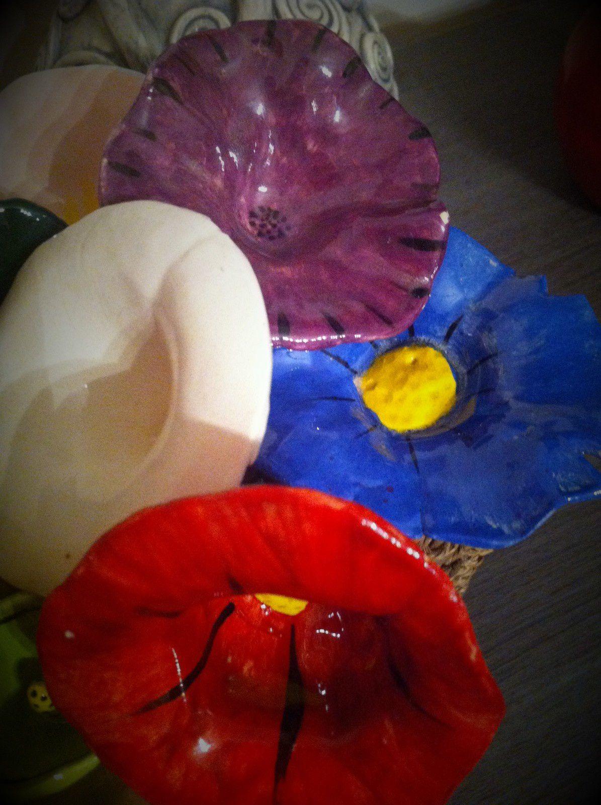 Le mardi c'est poterie : mes fleurs