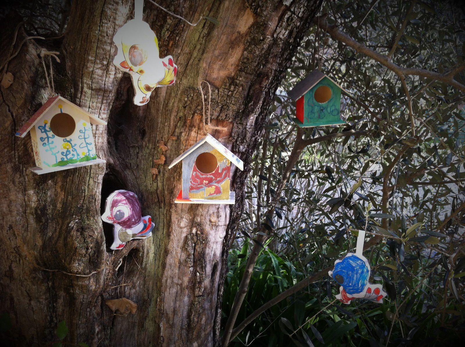 Atelier du mercredi : bientôt le printemps nichoirs et oiseaux