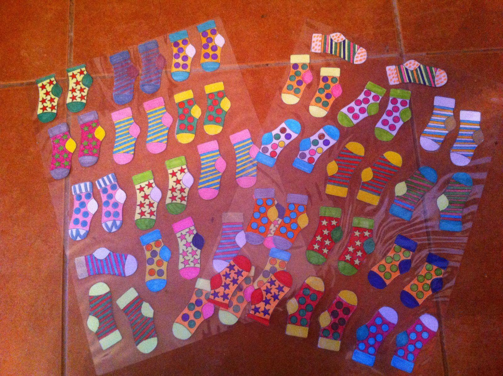 DIY créer un jeu : les paires de chaussettes